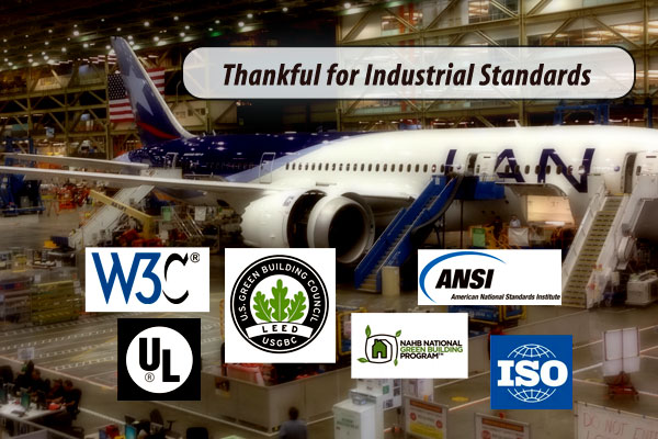 Thankful for Industrial Standards