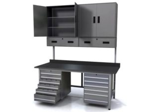 Workbench with Metal Tool Drawers