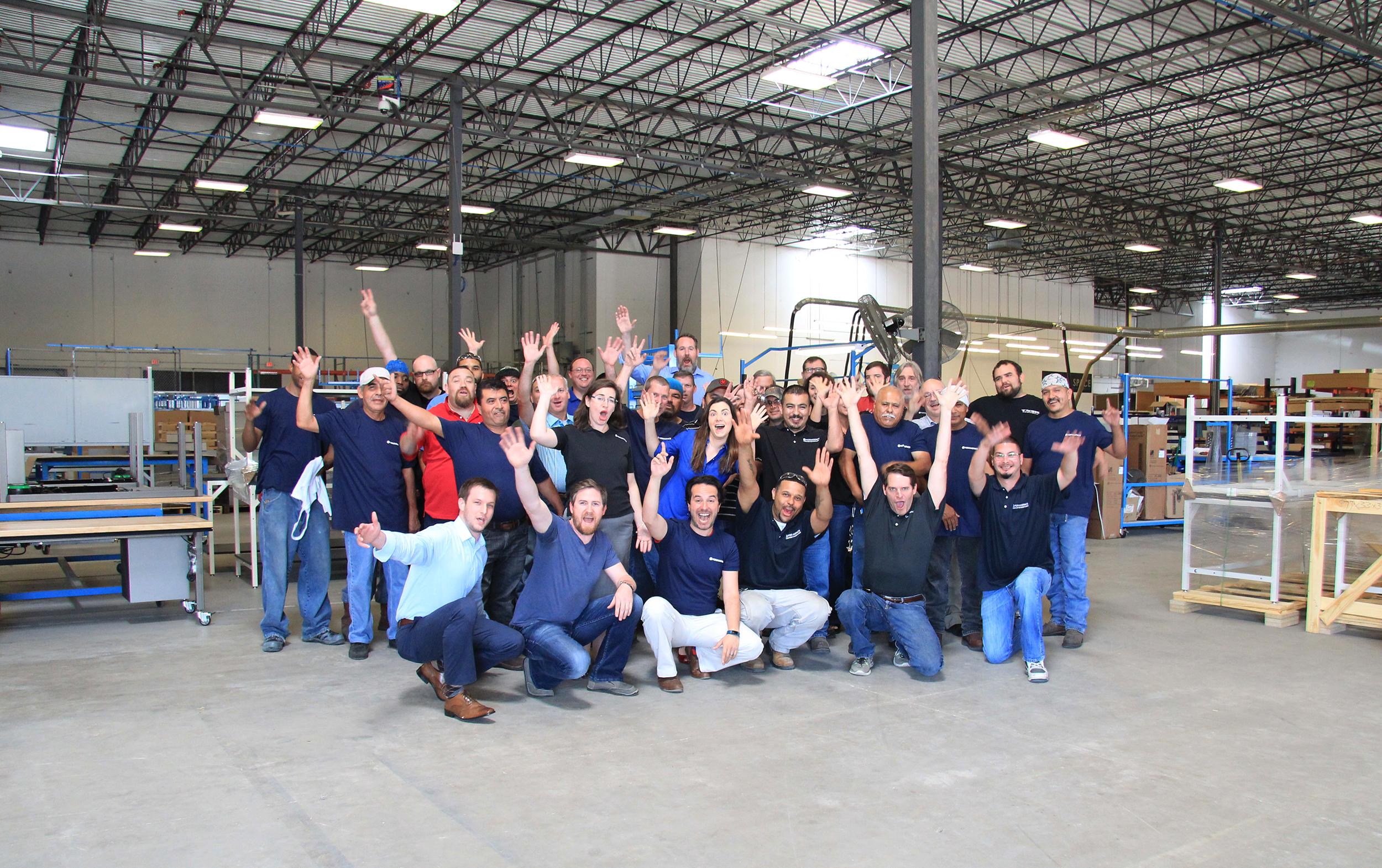 Formaspace Team in Warehouse