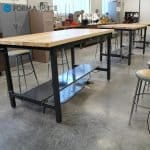 maple top classroom bench