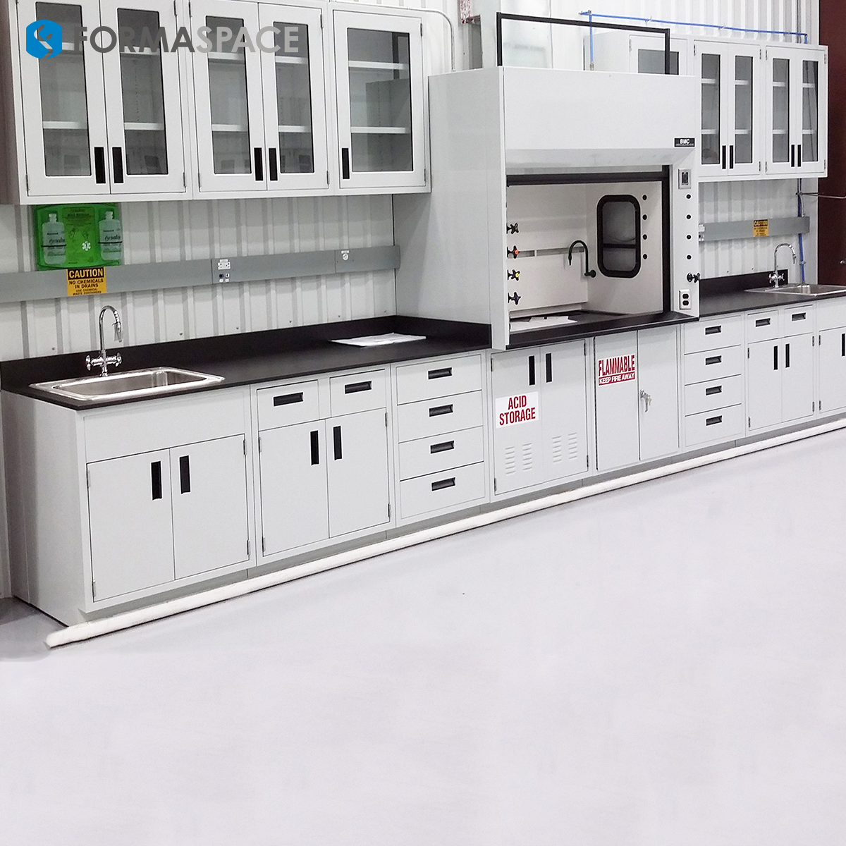 Oil & Gas Laboratory Casework with Ventilation System