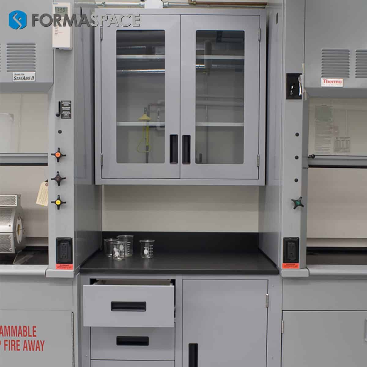 fixed lab casework with drawers