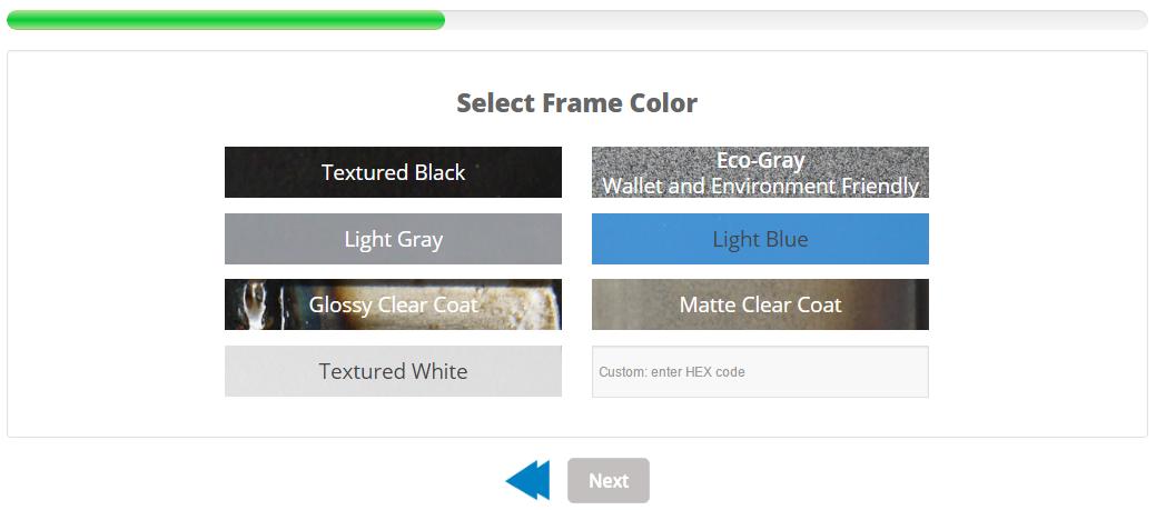 desk frame colors