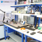 tech lab with lab instruments