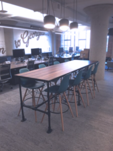 Twitter Cafe with Industrial Table