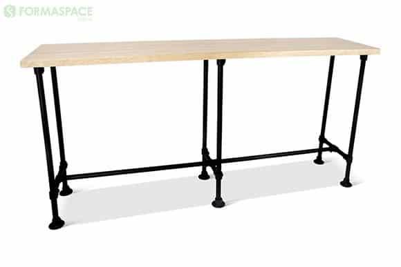 maple pipe leg table