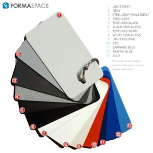 formaspace steel powder coat colors