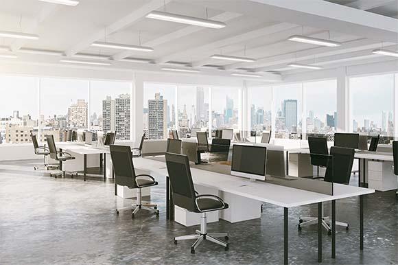 open office floor plan