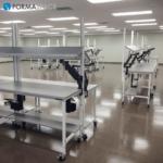 Pharmacy Order Filling Workbench with Upper & Lower Shelves for Pharmaceutical Company