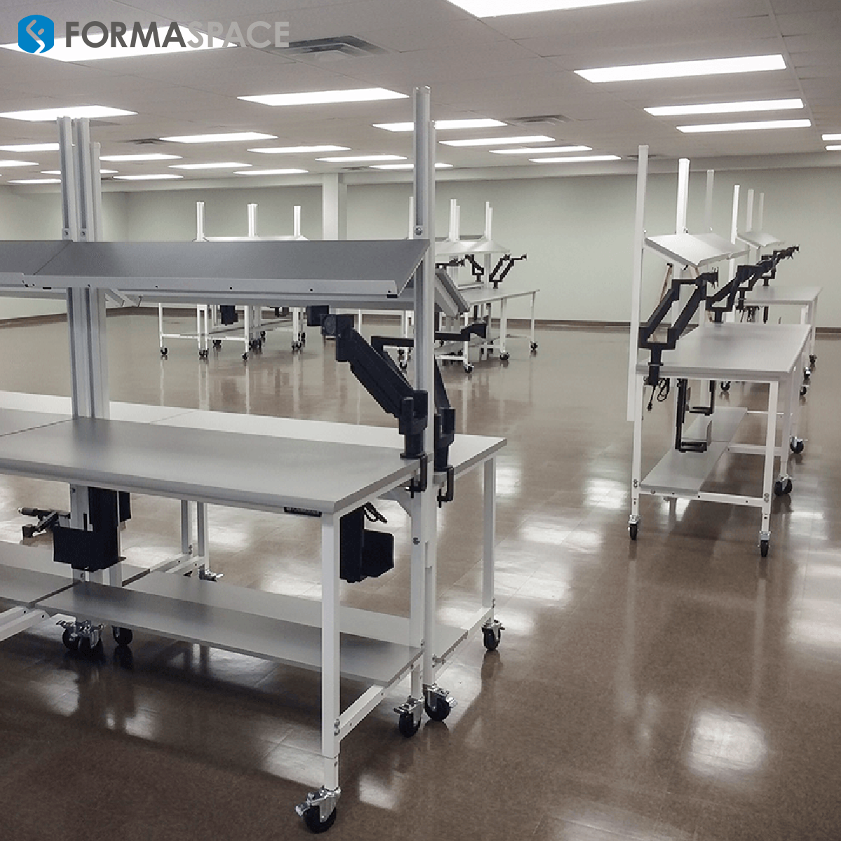 Pharmacy Order Filling Workbench with Upper & Lower Shelves for a Pharmaceutical Company