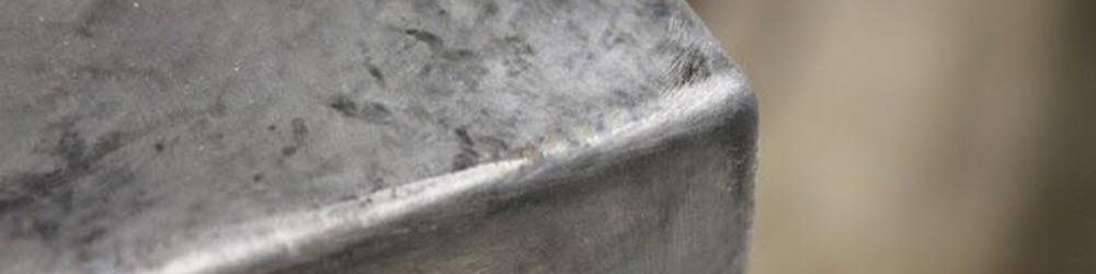 galvanized steel top