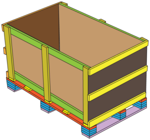 12 build trade show crates seal end with cardboard and three wood stringers