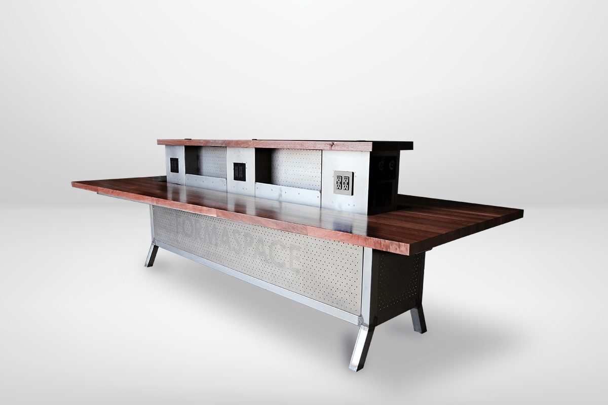 custom trapezoid conference table - formaspace office
