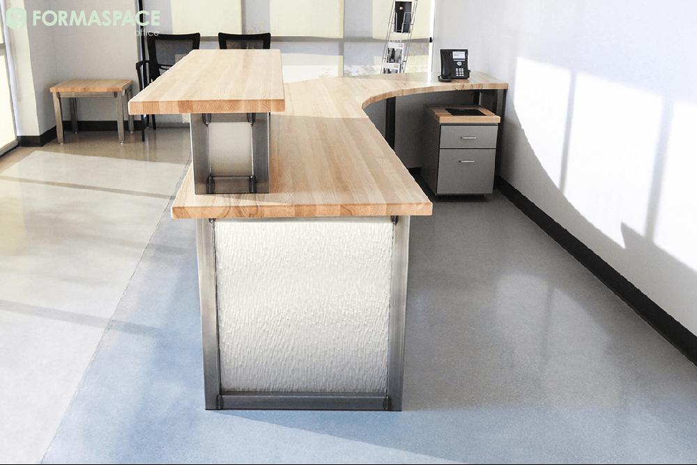 custom industrial reception desk