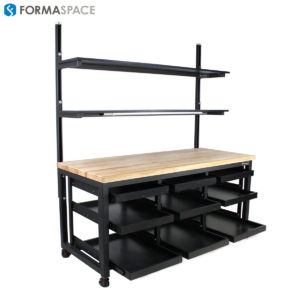 Under Mounted Pull Out Shelves on Benchmarx™