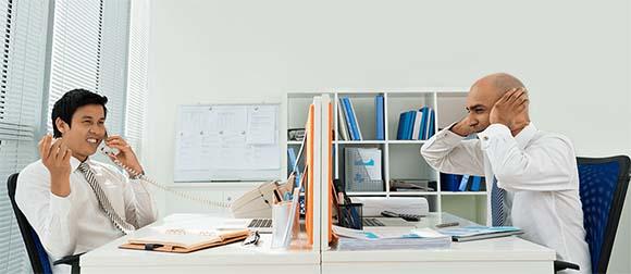 loud office environment