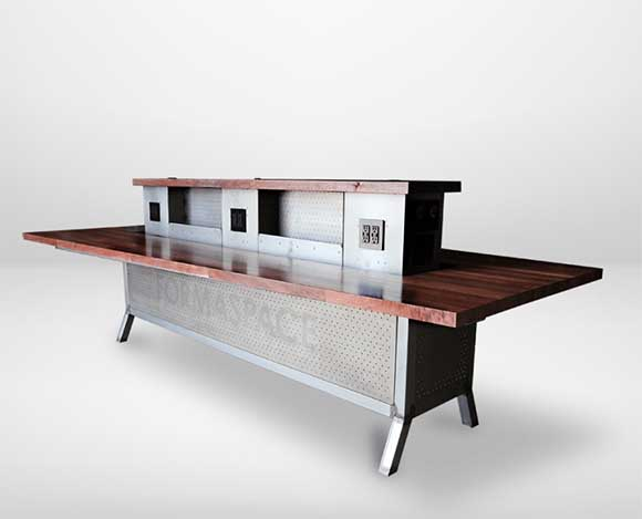custom trapezoid conference table - formaspaceoffice