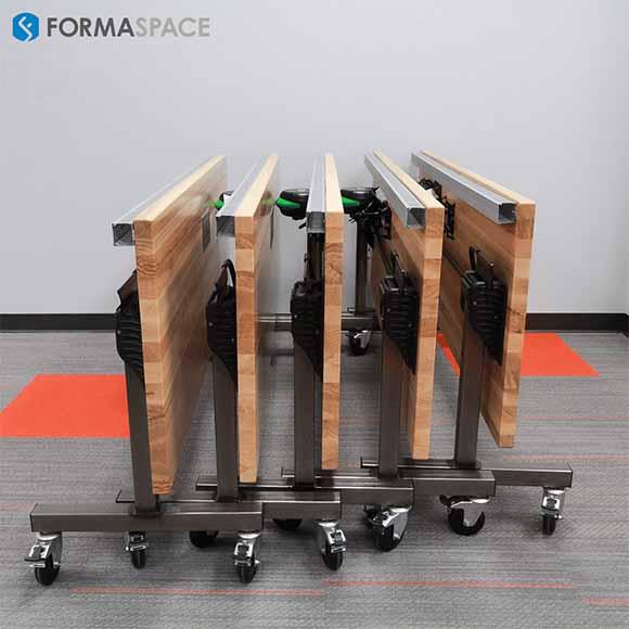 mobile tilting training tables