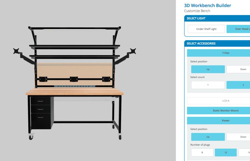 workbench 3d configure tool