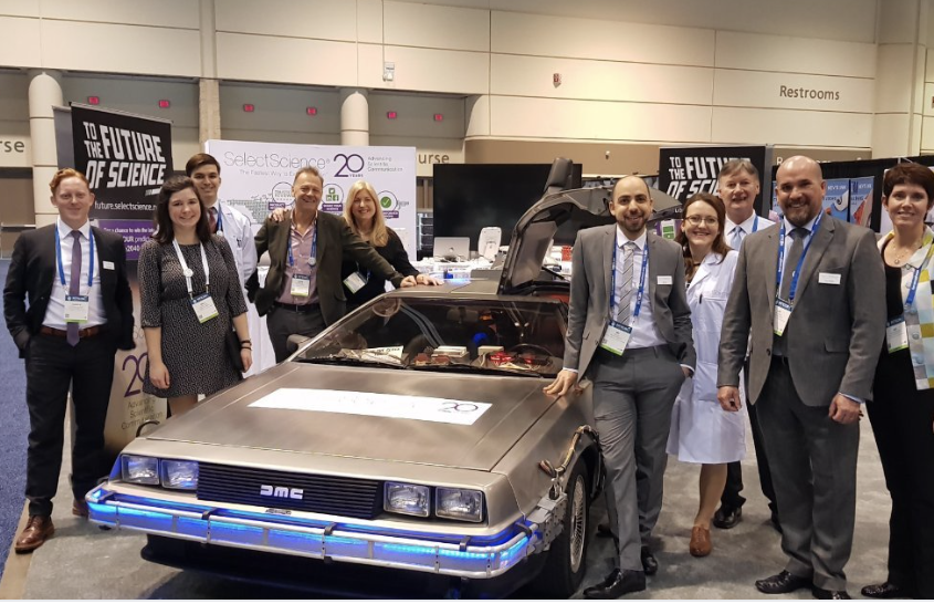 SelectScience's Booth at Pittcon 2018. Image from SelectScience LinkedIn.