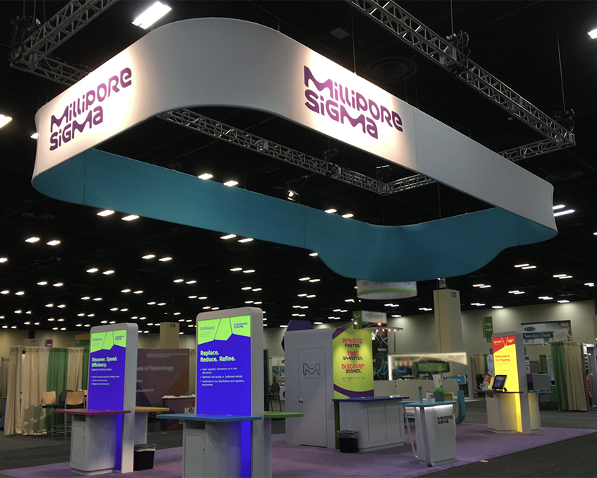 Millipore Sigma's Booth, Image courtesy of MilliporeSigma via Twitter