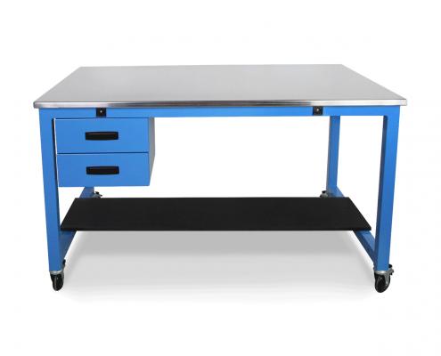 blue steel bench