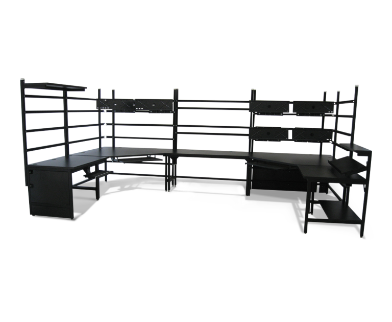 u shaped bench with customized features