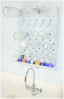 lab casework peg board mosaic image