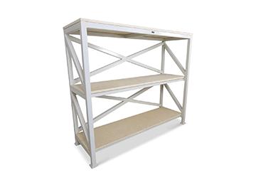industrial white storage rack