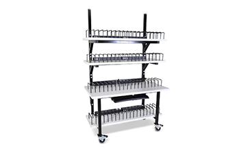 laptop storage cart with keyboard tray