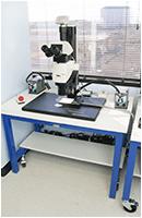 lab instrumentation microscope basix with antivibration levelers