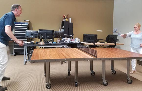 networking ping pong table