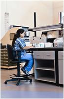 sample processing mosaic laboratory chair