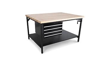 height adjustable workshop bench