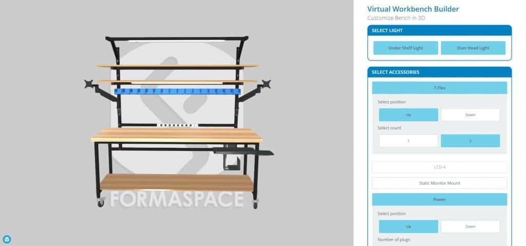3D virtual workbench builder
