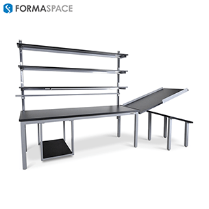 custom manufacturing workbench with integrated rails gallery