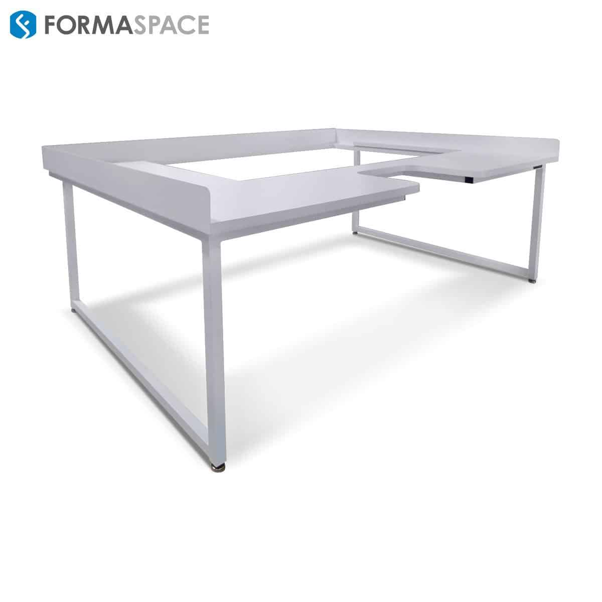96 x 60 custom white workbench