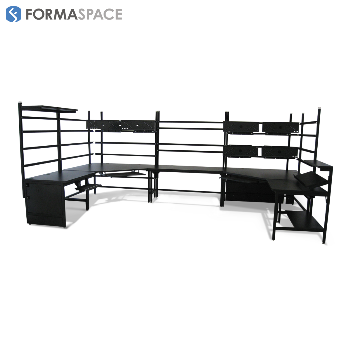 long u-shaped desks