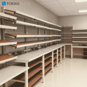 lab benches in hospital pharmacy