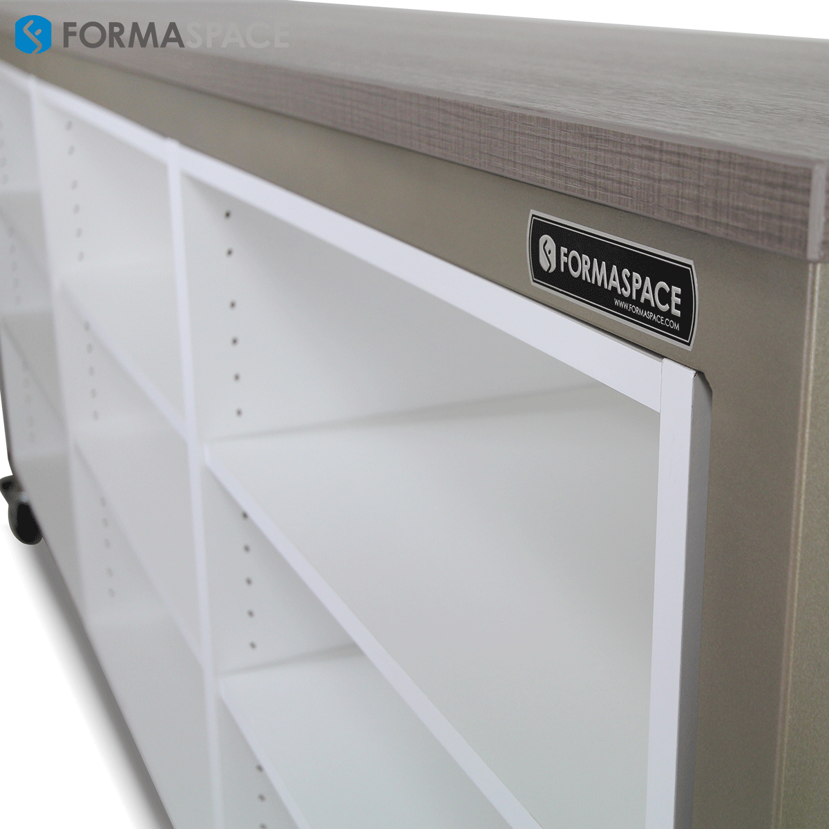 Mobile Lab Cabinets with Woodgrain Laminate