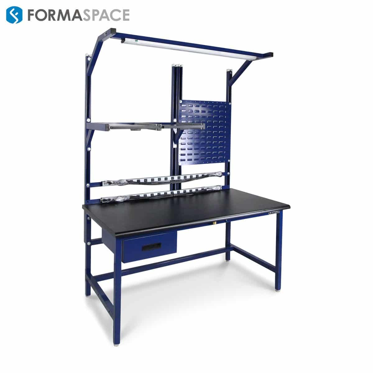 pull out shelves workbench