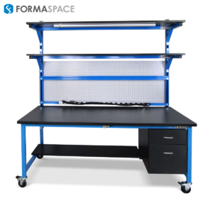 industrial workbench blue frame