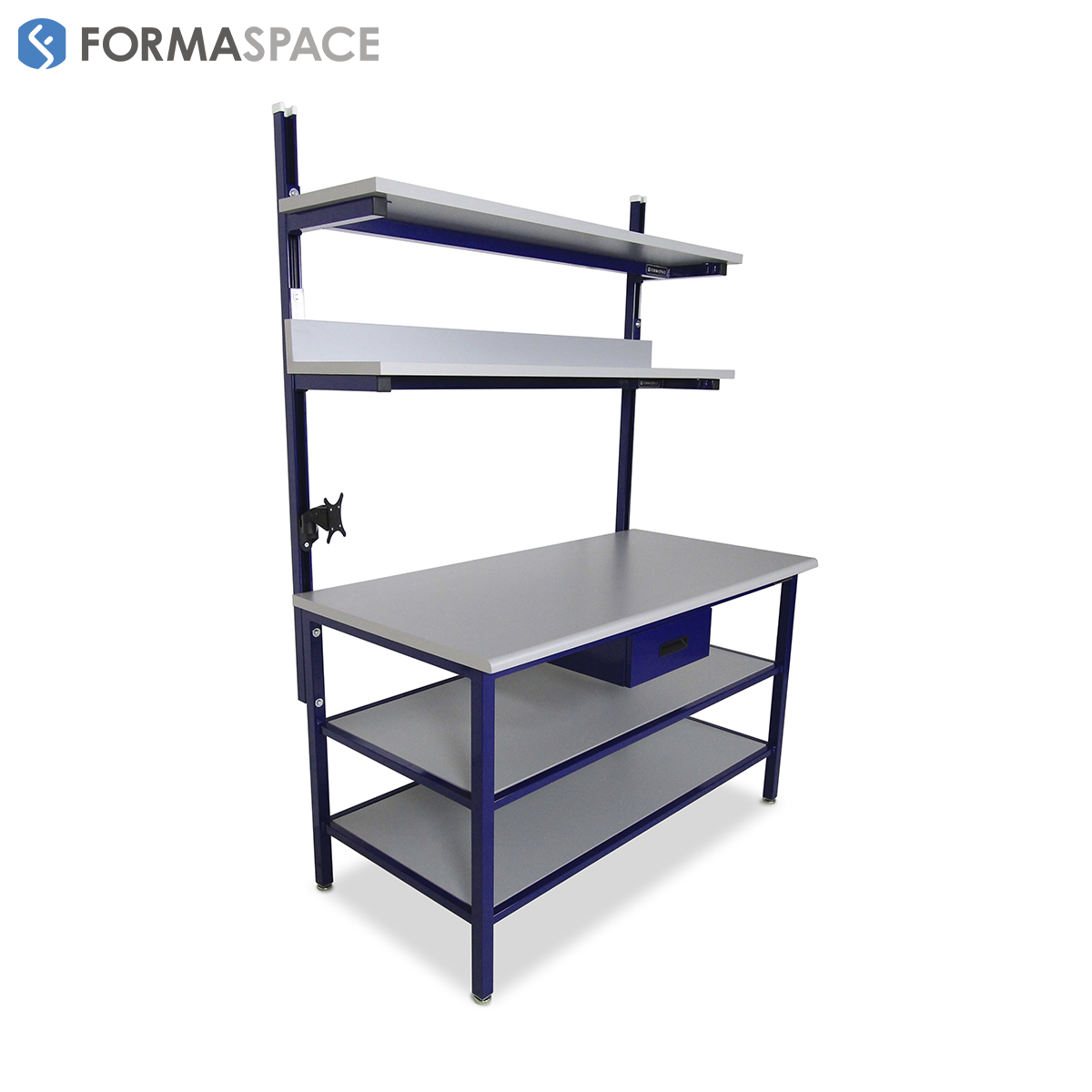 Benchmarx with Upper and Full Depth Lower Shelves