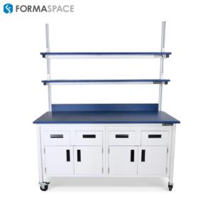blue epoxy countertops epoxy shelves lab bench