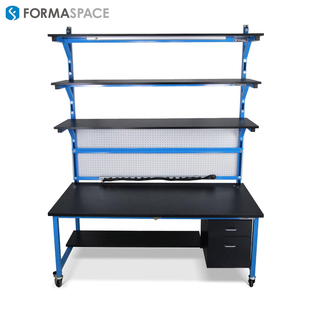 heavy duty workbench with extra shelf