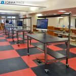 makerspace prep school workbenches