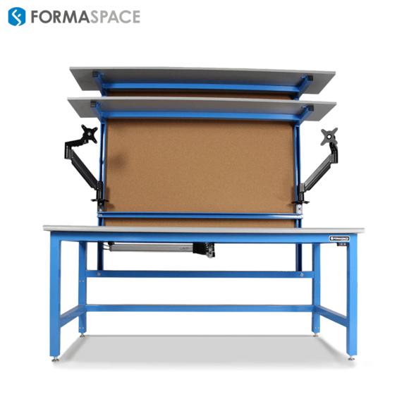 ergonomic IT lab desk