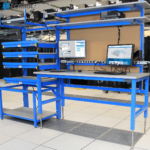 tech lab workbench server rack combo