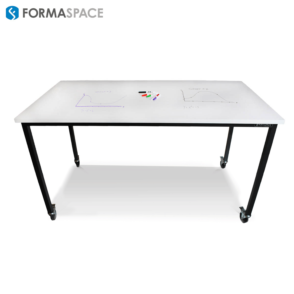 Heavy-duty workbench with casters