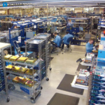 Electronics Assembly Line with Custom ESD Work Surface